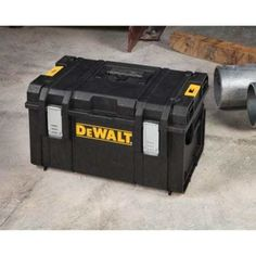 DEWALT Tough System Case Portable Storage Tool Case Large Box ORIGINAL Ds300 Set Robust structural foam box with large interior space Removable tray for hand tools Side latches allow stacking modules one on top of the other Side handles enable carrying or assembling products on ToughSystem metal Carrier IP65 Integrated water seal for protection of content from the environment and anti-rust metal latches Durable 4mm thick structural foam box wall gives robust structure to the stand alone…