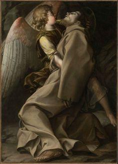 St. Francis Supported by an Angel  Orazio Gentileschi, Italian, 1563–1639  Museum of Fine Arts Boston