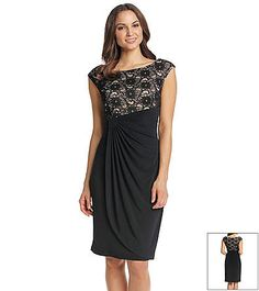 Connected® Lace Drapey Dress | Herberger's