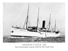 SS Braemar Castle, hospital ship for the troops injured during the Boer War 1900-1902 and  where another Chandler boy died.
