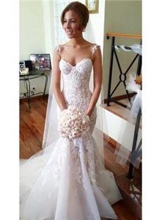 Spring beach pointed sleeveless natural zipper up floor length all sizes wedding dress