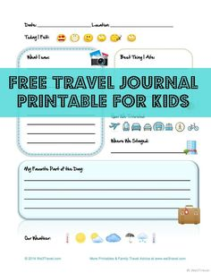 Printable travel journal pages for kids - would like to find or make something more mission specific, but this is a great resource.