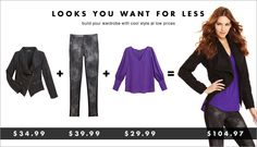 We like that! :) Fashion on a Budget!
