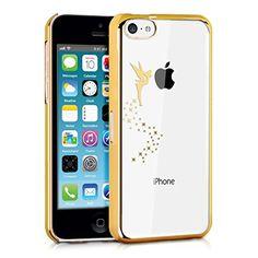 kwmobile® Étui transparent élégant et léger Motif fée pour Apple iPhone 5C en Doré Transparent
