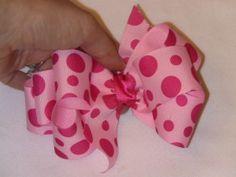 How To Make A Little Bow Grosgrain Ribbon Hair Bows Ribbons 300x225 How to Make Cute and Easy Little Girl's Hair Ribbon Bows