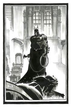 Batman Pin-Up Art-Tim Sale