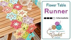 Flower Power Crochet Table Runner + Tutorial - The Crochet Crowd