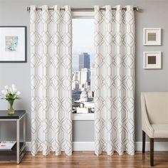 Softline Home Fashions 933QIN Quartz Grommet Curtain Panel