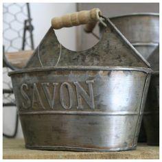 Le Porte eponge et Savon Zinc Cuisine Déco Rétro Campagne