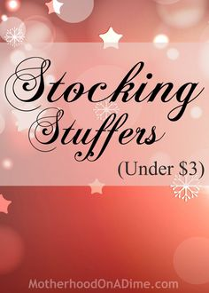 Cheap Stocking Stuffers