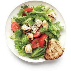 Grilled Chicken and Herbs Salad ❤ liked on Polyvore featuring food and fillers