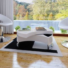 Coffee-Table-Coffee-Table-Table-Design-Adjustable-High-Gloss-Black-White