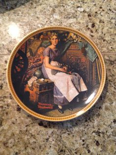 Knowles Dreaming in the Attic Rockwell's Rediscovered Women Collector Plate on Etsy, $22.00
