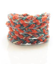 textile wrap bracelet.