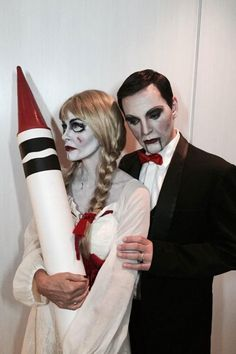 As Annabelle and her ventriloquist.