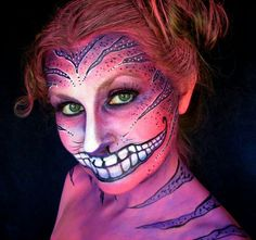 cheshire cat face makeup - Google Search