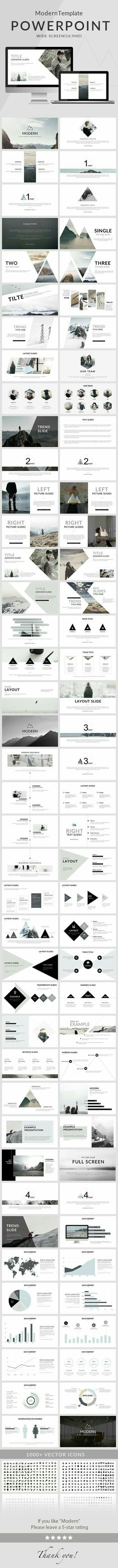Nice and clean modern PowerPoint presentation template for creative presentations. 80 slides to emphasize the key points of the presentation and create a great impression on the viewers. Powerpoint Design, Creative Powerpoint Templates, Free Powerpoint Templates Download, Ppt Free, Graphisches Design, Slide Design, Logo Design, Interior Design, Resume Design