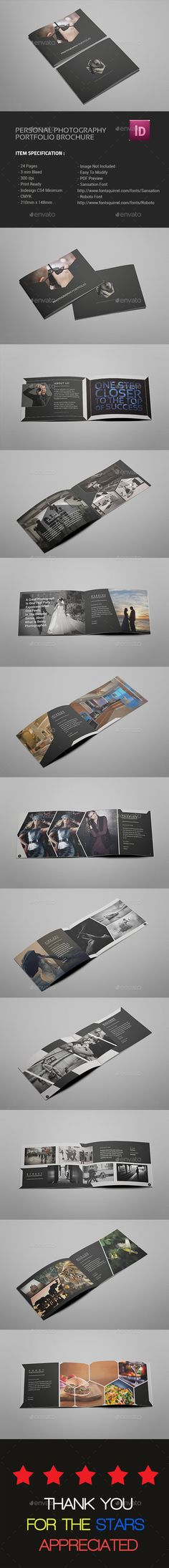 A5 Photography Portfolio Brochure Template InDesign INDD. Download here: http://graphicriver.net/item/a5-photography-portfolio-brochure/14585334?ref=ksioks