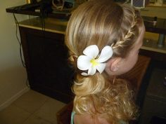 Hair By Hair Perfectionist Fiji - Jr Bridesmaid hair idea - ashley