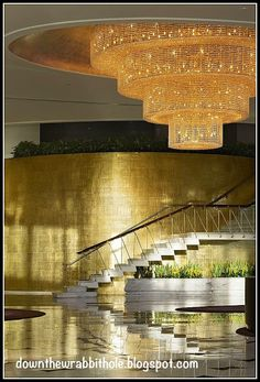 """Chandeliers at the Fontainebleau Miami Beach. Find out more at """"Down the Wrabbit Hole - The Travel Bucket List"""". Click the image for the blog post."""