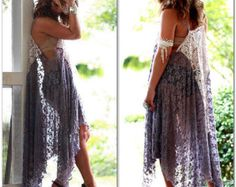 Gypsy tunic Stevie Nicks style sheer rock by TrueRebelClothing