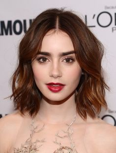 Lily Collins style & cut