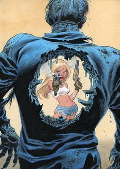 Zombie Killer by Bruce Timm. Just fun.