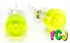 Translucent Yellow Stud Earrings