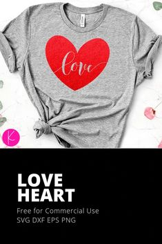 (1) Free Love Heart SVG Cut Files - Kelly Lollar Designs Easter Quotes, Flower Doodles, Svg Cuts, Love Heart, Just Love, Cutting Files, Graphic Sweatshirt, T Shirts For Women, This Or That Questions