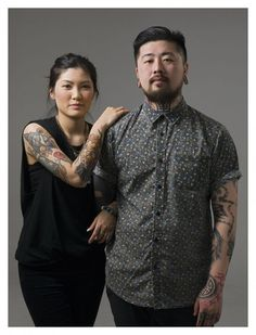 Jennifer and Vince run The Company Tattoo in Mong Kok. Bold lines, a graphic sensibility and strong colours define Vince's artworks.  The Company provides a great example of the new style of tattoo studios evident now in the Hong Kong scene. DESKTOP USERS CLICK ON THIS IMAGE TO LAUNCH PHOTO GALLERY. Photos: Helen Mitchell