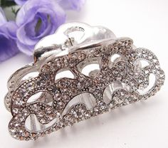 Fit long Hair New Vintage Silver color Swarovski Crystal Retro Copper Hair Claw Clip 812 * Find out more about the great product at the image link.