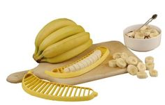 Perfect for someone with disabilities, the Banana Slicer is an easy and safe way to slice bananas.  $2.99 at SuburbanFoodies.com
