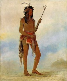 Native American George Catlin Ah-nó-je-nahge, He Who Stands on Both Sides, a Distinguished Ball Player by griffinlb, via Flickr