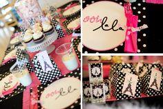 coco chanel party decor ideas | Parisian Pink Guest Dessert Feature « SWEET DESIGNS – AMY ATLAS ...