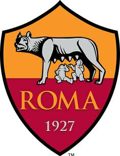 The modern soccer club AS Roma has Romulus, Remus, and the She-Wolf on their badge. Football Team Logos, Soccer Logo, Sports Logo, As Roma, Soccer World, World Football, Psg, Roma Club, Christian Vieri