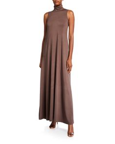 Rachel Pally Plus Size Cait Mock-neck Sleeveless Long Dress In Brown Jumpsuit Dress, Shirt Dress, Rachel Pally, Plus Size Pregnancy, Mock Neck, Dress Outfits, Luxury Fashion, Summer Dresses, Clothes