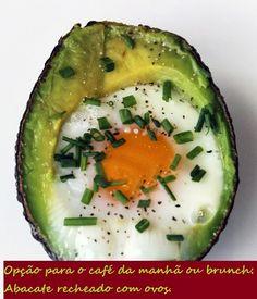 Nutrição Integrativa & Vitalidade Positiva: Abacate recheado com ovos