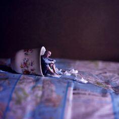 Mini man self portrait by Joel Robinson Surrealism Photography, Conceptual Photography, Creative Photography, Digital Photography, Fine Art Photography, Portrait Photography, Miniature Photography, Double Exposure Photography, Creative Portraits