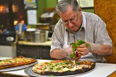 Di Fara Pizzeria Brooklyn, New York Brooklyn City Food + Drink NYC food pizza man cuisine professional cook chef appetizer brunch recipe supper snack food Restaurant Diner, Brooklyn Restaurant, Le Diner, Brooklyn City, New York Eats, New York Food, Pizza Cool, Pizza Crazy, Best Pizza In Nyc