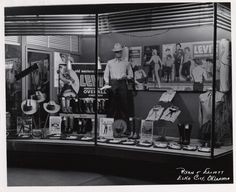 One Trip Pass Blog - Vintage Levi's Window Displays ~ Rivet Head