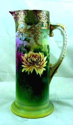 Royal Nippon Nishiki Hand Painted Tankard Pitcher circa 1906-1921