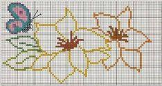 flor em ponto cruz vazado ile ilgili görsel sonucu