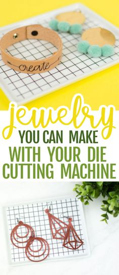 Today, we have rounded up some amazing jewelry you can make  with your die cutting machine. From earrings to pendants to bracelets, there is  definitely something here for everyone. We love the variety of the different  looks. #cricut  #diecutting #diecuttingmachine #cricutmachine #cricutmaker #diycricut #cricutideas  #diycricutprojects #cricutprojects #cricutcraftideas #diycricutideas  #cricutcrafts Christmas Gifts For Teenagers, Gifts For Teens, Diy For Teens, Diy Mothers Day Gifts, Diy Gifts, Vinyl Projects, Fun Projects, Diy Leather Bracelet, Diy Tassel
