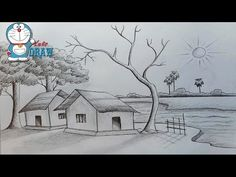 Simple Scenery Drawing Pencil is amongst the easiest and efficient artistry, which you can consider as a complete time period as well as total time pa. Scenery Drawing Pencil, Easy Scenery Drawing, Landscape Pencil Drawings, Landscape Sketch, Pencil Shading, Pencil Art Drawings, Art Drawings Sketches Simple, Girl Drawing Sketches, Art Drawings For Kids