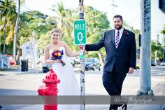 Don't forget to grab a photo by the Mile marker 0 sign for your Key West Wedding!