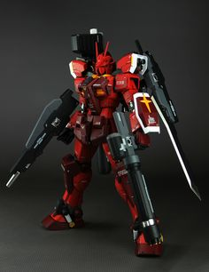 Custom Build: MG 1/100 Gundam Amazing Red Warrior - Gundam Kits Collection News and Reviews