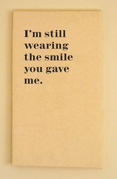 awesome I'm still wearing the smile you gave me :)...