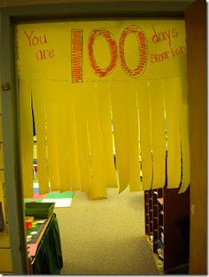 100th day...cute!  Hang this in your doorway...what a way to start the day!