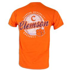 Clemson Tigers Baseball Tshirt - Got to get this for Chris - Clemson baseball camp is right around the corner! Clemson Baseball, Espn Baseball, Marlins Baseball, Baseball Scoreboard, Baseball Scores, Twins Baseball, Tigers Baseball, Clemson Tigers, Baseball Training