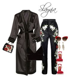 """""""Vain"""" by slaynia ❤ liked on Polyvore featuring Dolce&Gabbana, T By Alexander Wang, Aquazzura and Miss Selfridge"""
